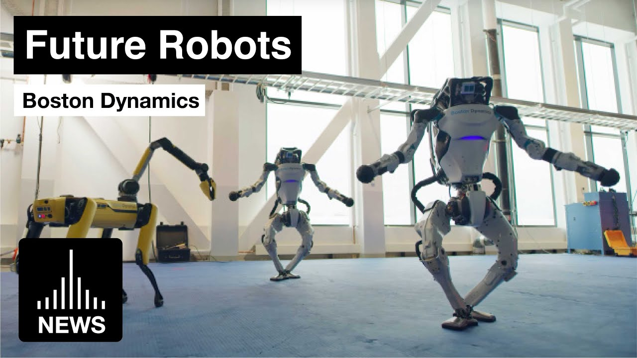 Future Robots – Boston Dynamics Robot Family Dance for New Year