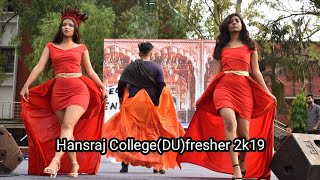 Hansraj college(DU) fresher 2k19|du|delhi university|DELHI UNIVERSITY FRESHER'S PARTY 2K19