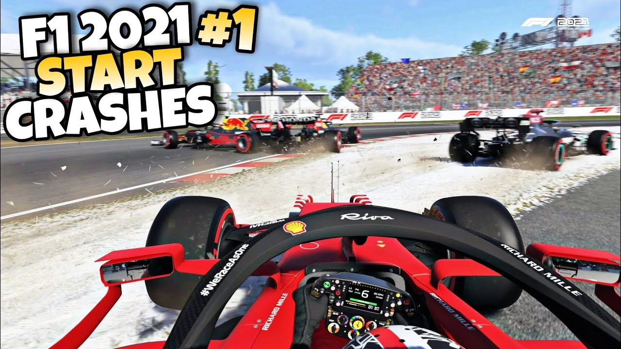 F1 2021 START CRASHES #1