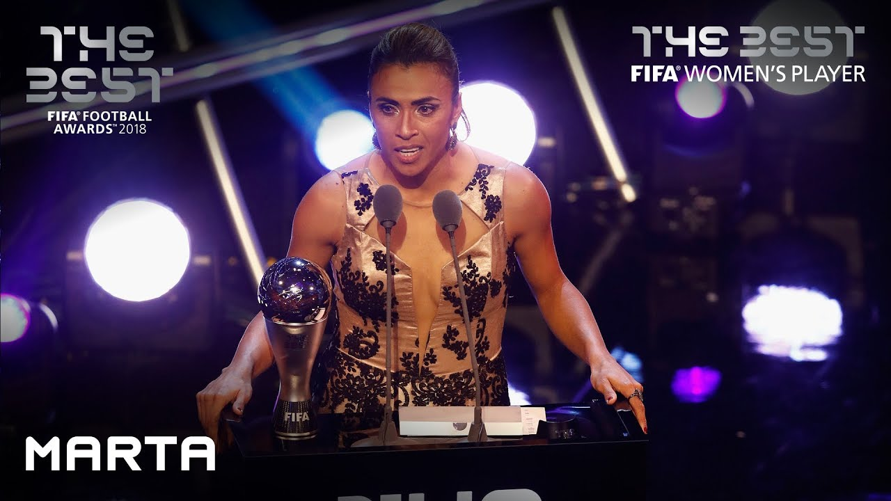 Marta reaction - The Best FIFA Women's Player 2018