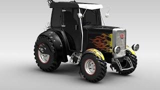 #730. Тюнинг трактор МТЗ(Огромные русские грузовики пользуются популярностью во всем мире. Нива и УАЗ обладают высокой степенью..., 2014-12-16T18:20:45.000Z)