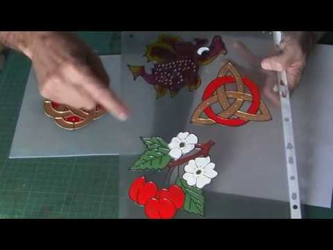 How to make Window Stickers / Peelies with Glass Paint.