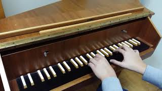 Having some fun with the harpsichord at Tchaikovsky National Academ...