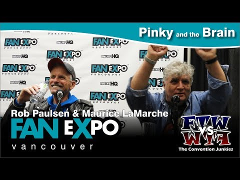 Rob Paulson & Maurice LaMarche Pinky and the Brain   Expo Vancouver