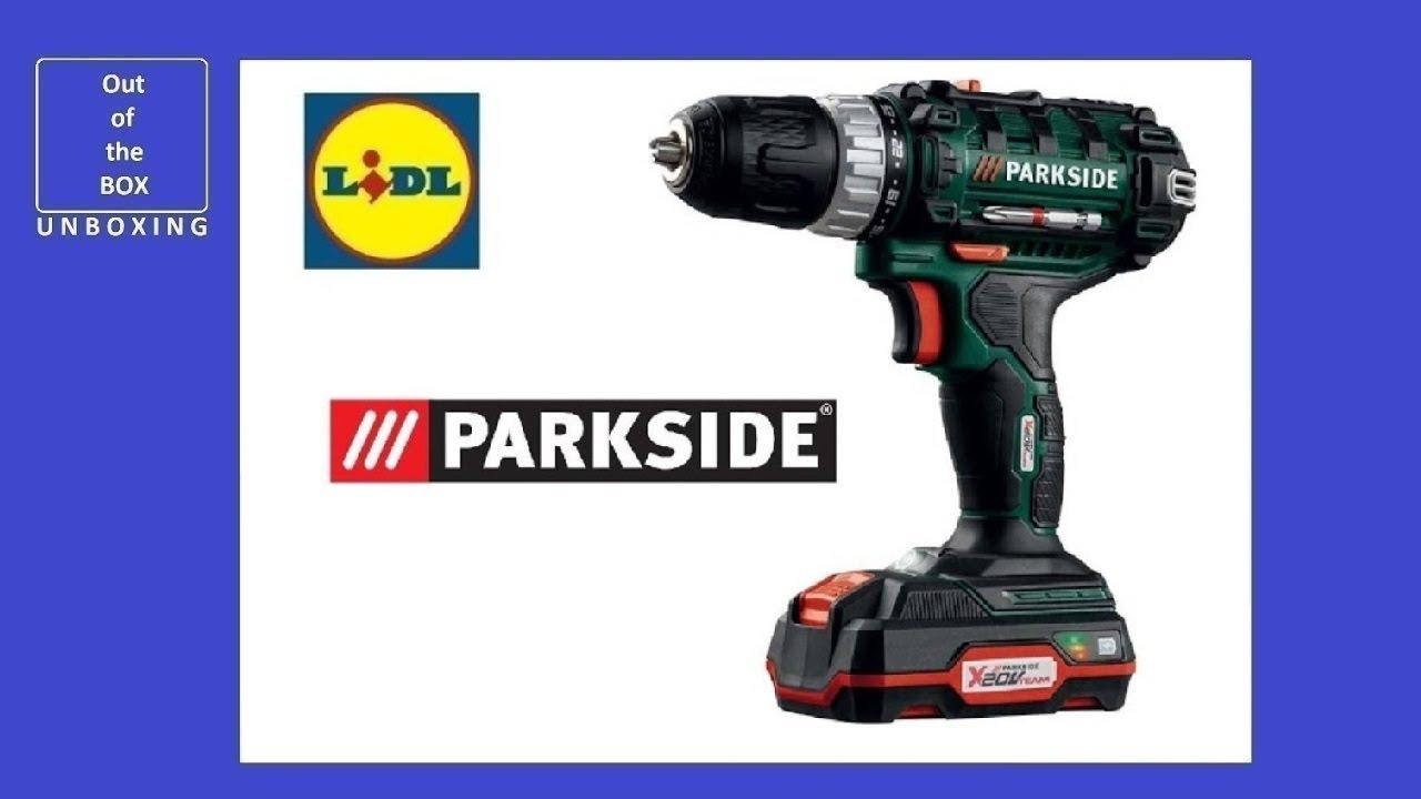 Parkside Cordless Drill / driver PABS 20-Li C3 UNBOXING (Lidl Li-ion, 20V,  2 0Ah)