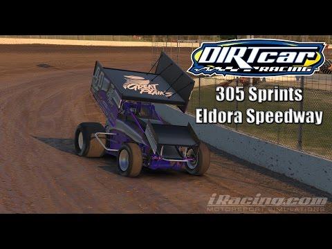 iRacing dirt 305 Sprint Cars: Baaaad start at Eldora Speedway