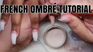 Fall French Ombre Coffin Nail Tutorial