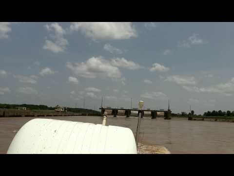 Red River Flood Waters at Lock and Dam 3, Colfax Louisiana. June 22, 2015.
