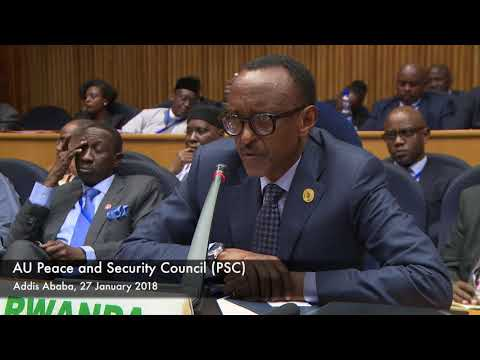 President Kagame speaks NEPAD at the Heads of State and Government Orientation Committee (HSGOC)