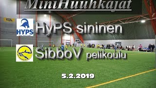 Mini Huuhkajat HyPS sininen vs SibboV pelikoulu