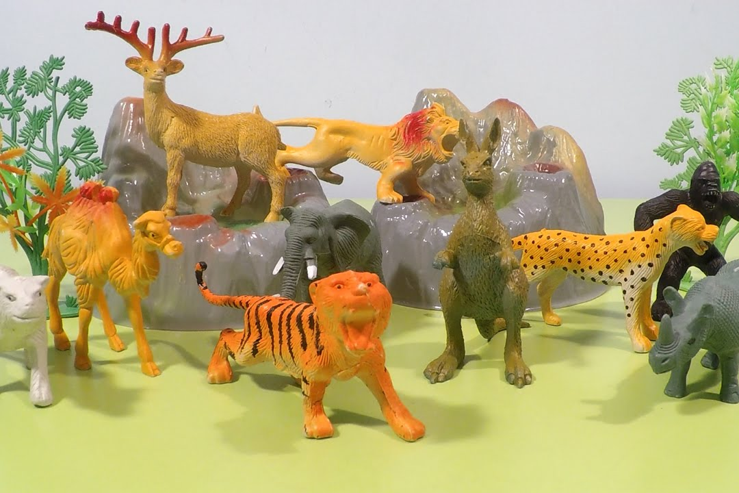 Wild Animals Fun Video For Children Jungle Safari Animal Toys