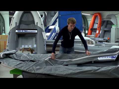 Видеоинструкция по сборке и разборке складной лодки-RIB WINBOAT