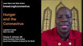 Hunger and the Coronavirus: Legislative Update, March 26, 2020