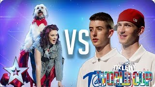 QUARTER FINALS: Ashleigh & Pudsey vs Twist & Pulse | Britain's Got Talent World Cup 2018
