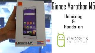 Gionee Marathon M5 Unboxing & Hands-on
