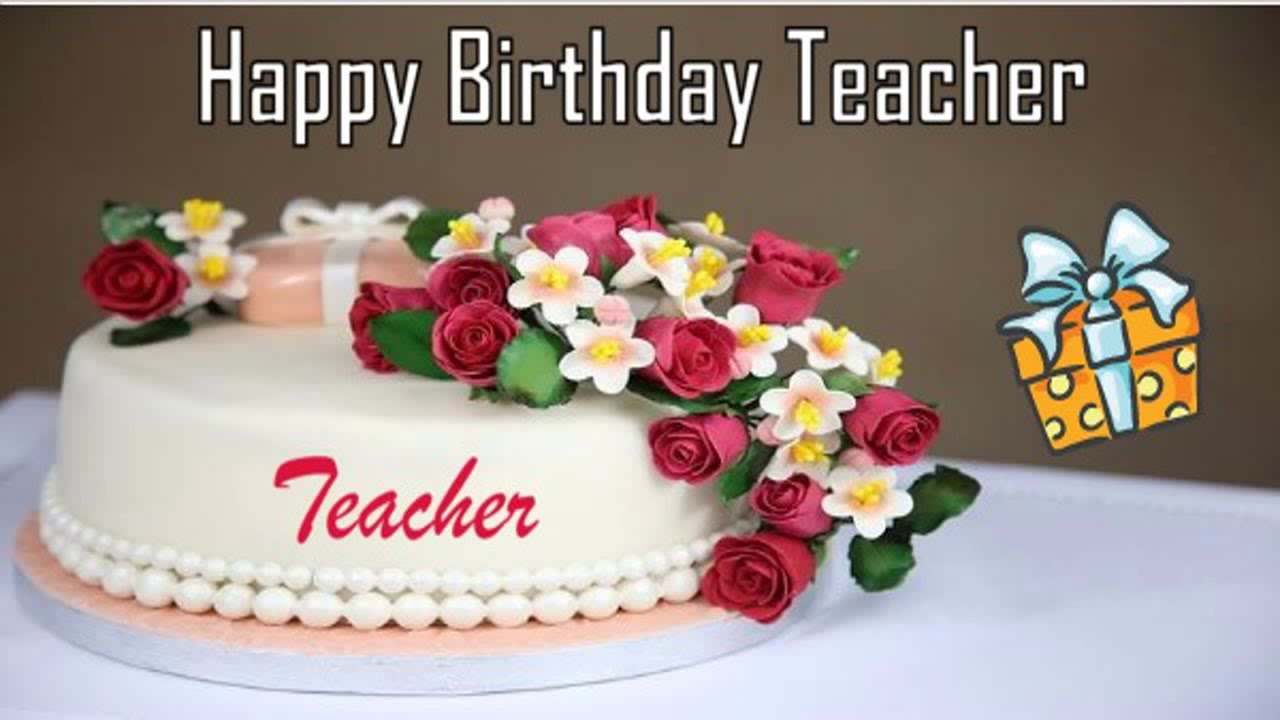 Happy Birthday Teacher Image Wishes YouTube