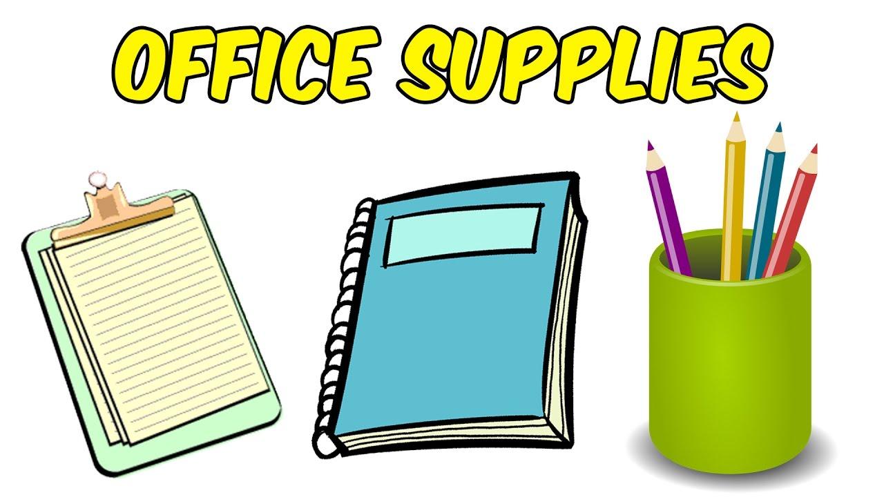 School Supplies For Kids Office Preschool Learning Educational Videos
