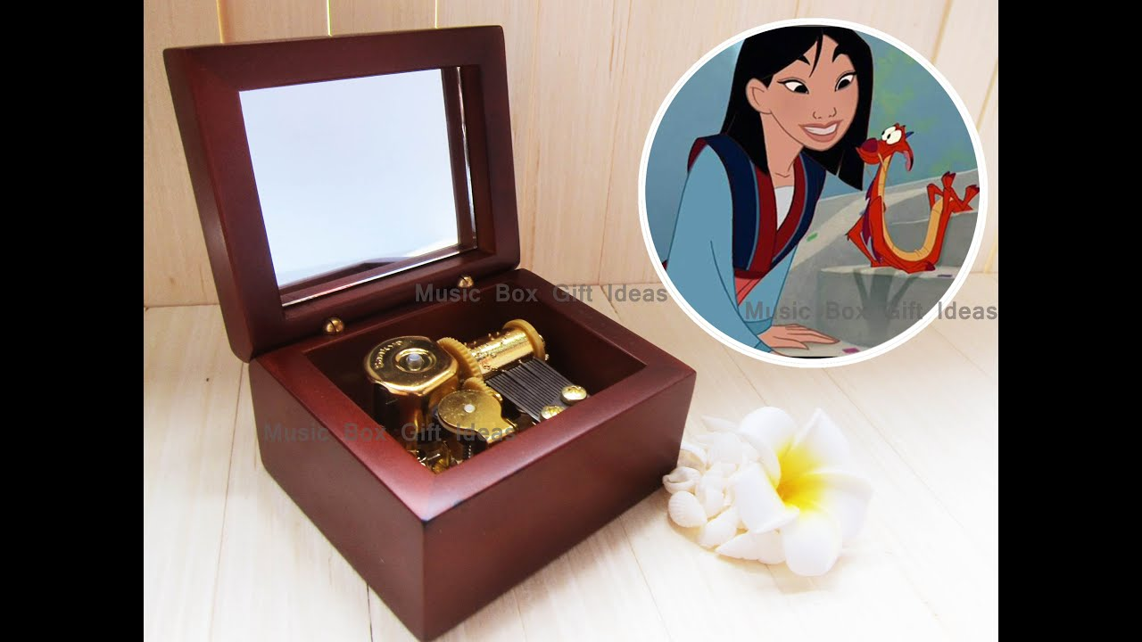 Disney Mulan Reflection Sankyo 18-Note Windup Music Box