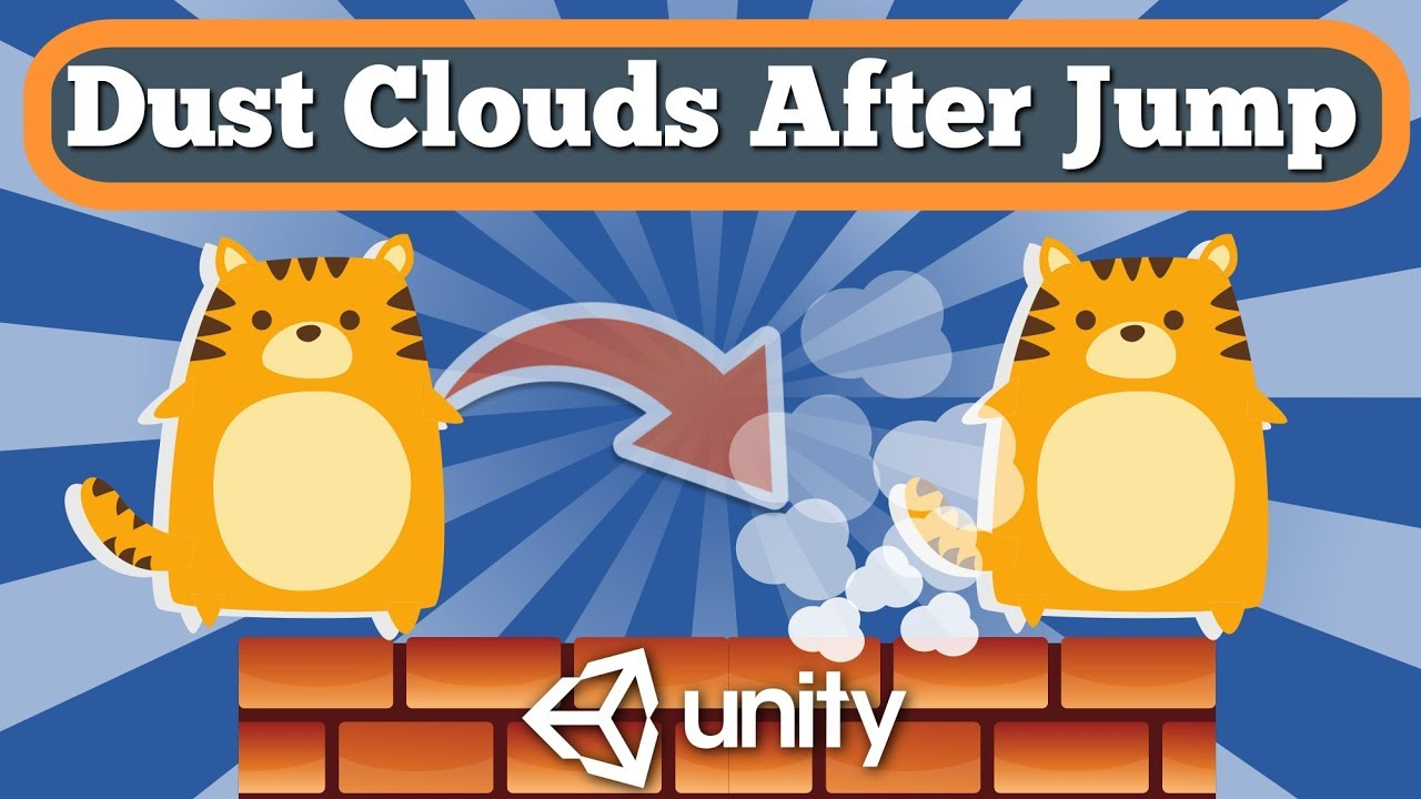 Unity 2D Tutorial How To Create Dust Cloud After Jump Effect For Simple Game Using Particle System.