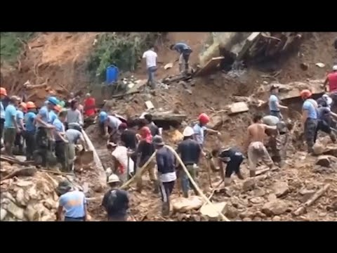 - Villagers didn't evacuate when told and got buried