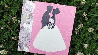 Свадебная открытка своими руками(Мастер-класс