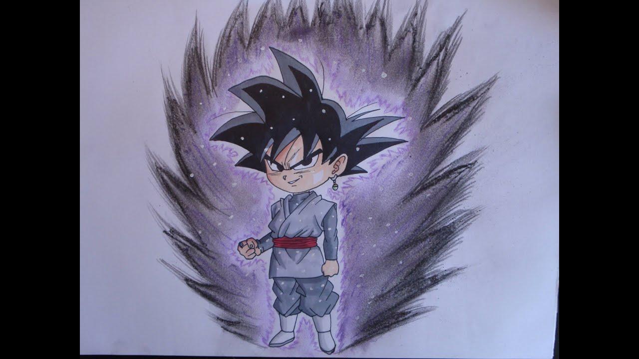 Drawing Goku Black Chibi