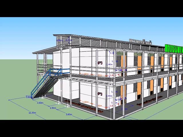 บ้านพัก 2 ชั้นสำเร็จรูป @HappyJJ 082-4959364