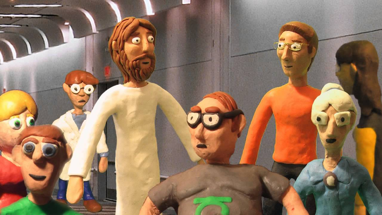 Jesus And The Bankers Claymation - YouTube
