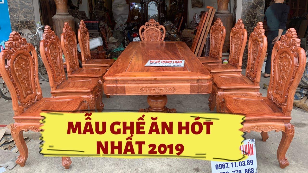 Bàn Ghế Ăn Mẫu Hoa Lan Tây Gỗ Hương,Gỗ Gõ. Bán về Phú Thọ và TPHCM. 12-2019 #dogothanhluan