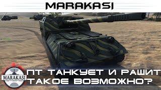 ПТ САУ не сидит в кустах, танкует и рашит, такое возможно? World of Tanks