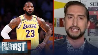 'Asterisk talk' is a preemptive strike in case LeBron wins title — Nick Wright | FIRST THINGS FIRST