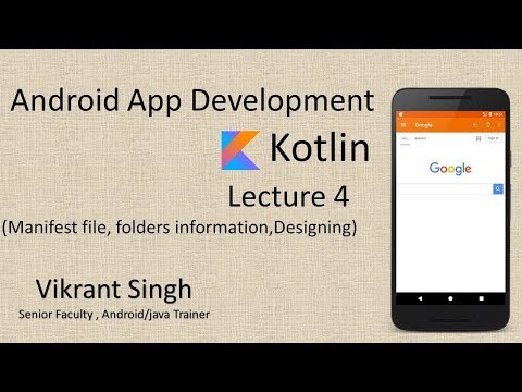 Kotlin (Lecture 4) - Full tutorial on Android App Development in hindi thumbnail