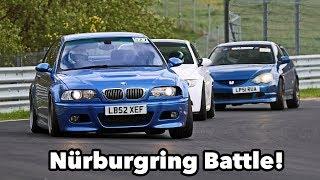 E46 M3 vs E92 M3 vs Integra Type R - Nürburgring Nordschleife Battle