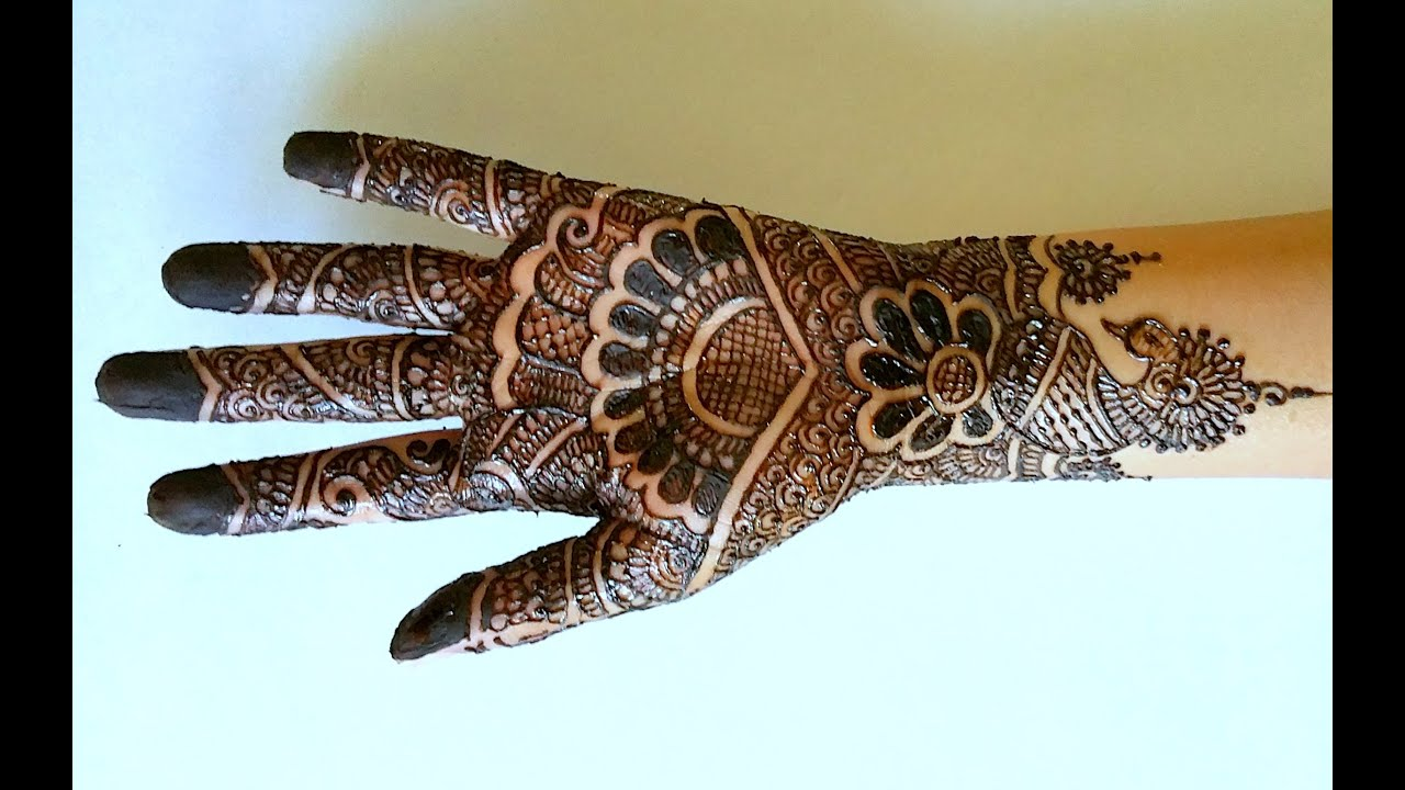 Intricate Mehndi Patterns : Intricate full hand henna design youtube