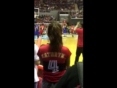 Kathryn Bernardo todo cheer kay Daniel Padilla nung Star Magic OPPO All Star Basketball Game