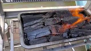 360도 회전 숯불 바베큐 시연영상 [불쇼방지바베큐, …