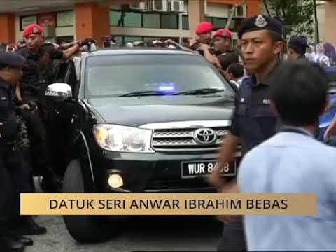 Perjalanan Datuk Seri Anwar Ibrahim ke Istana Negara