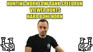 Hunting Horn LR Speedrun & Viewer Hunts -  (Monster Hunter World)
