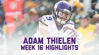 Adam Thielen's Amazing 202-Yard & 2 TD Game! | Vikings vs. Packers | NFL Week 16 Player Highlights