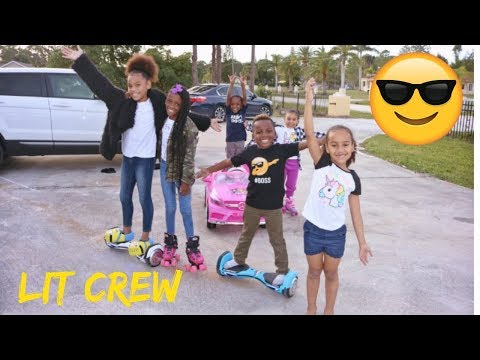 WE WENT ON A ROAD TRIP- BEAM SQUAD AJ MOBB TAKEOVER- FAMILY VLOG