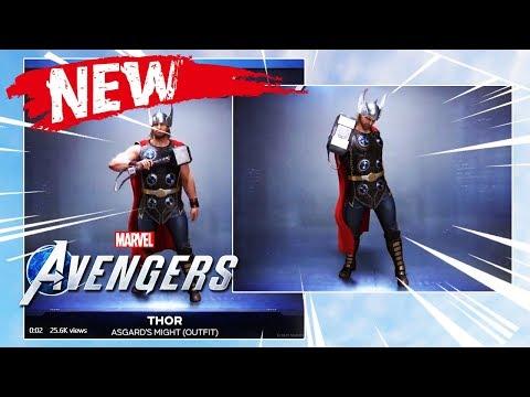 NEW Avengers Game Thor Emote Footage Revealed!