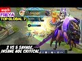 2 Vs 5 Savage  Insane AOE Critical    angel1 Freya Mobile Legends
