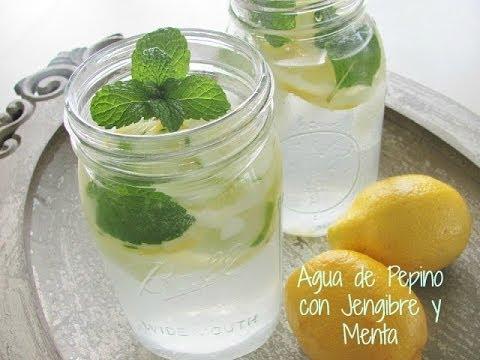 agua de pepino y canela para adelgazar