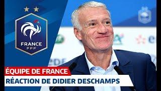 Didier Deschamps, sa réaction après la liste I FFF 2019