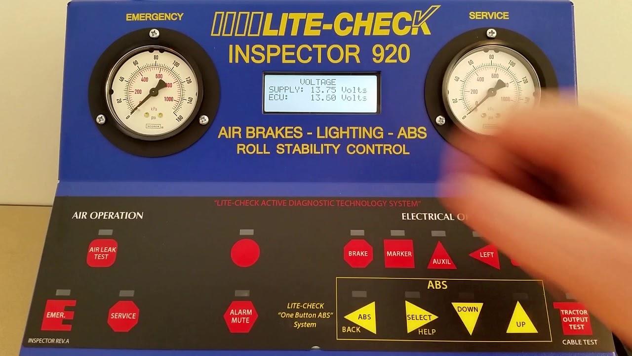 Inspector 920 Trailer Tester - Complete Light, ABS, Brake