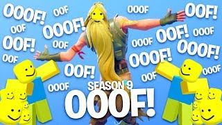 Fortnite Dances But With The Ooof Sound..! *Season 9* (Roblox Death Sound)