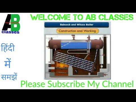 (IN HINDI) Babcock and Wilcox Boiler Construction and Working in Hindi-AB CLASSES,Thermodynamics
