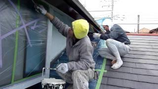塗装職人、外壁塗装の何気ない現場 thumbnail