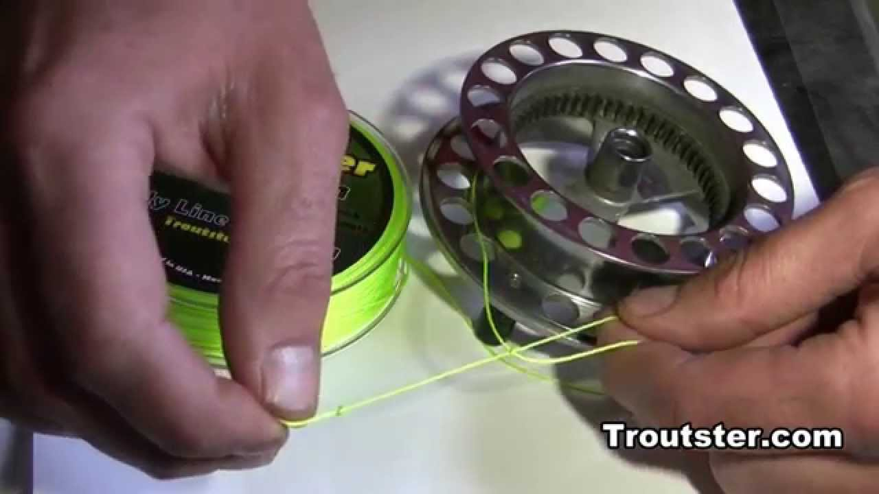 How To Tie The Arbor Knot Backing To Fly Reel Knot Great For Spinning Reels As Well Youtube
