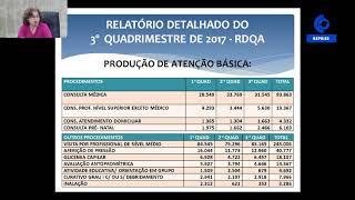 Prestação de Contas 3º Quadrimestre 2017  - Sec. de Saúde - 11.04.18